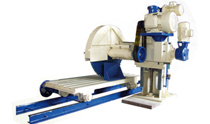 single pillar granite block cutter